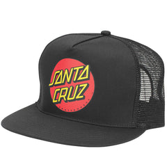 Santa Cruz Classic Dot Trucker Mesh Hat - Black