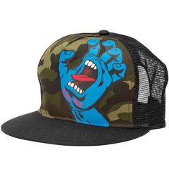 Santa Cruz Screaming Hand Trucker Mesh Hat - Camo/Black