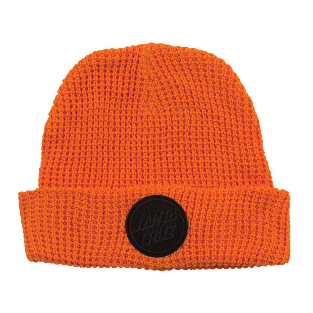 Santa Cruz SCS Opus Badge Long Shoreman Beanie - OS - Hazard Orange - Men's Beanie