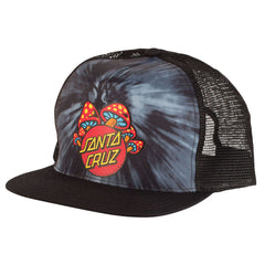 Santa Cruz Shroom Dot Trucker Mesh Men's Hat - OS - Tie Dye/Black - Men's Hat