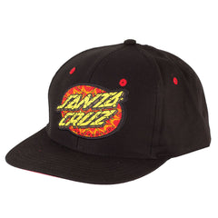 Santa Cruz Psychedelic Dot Adjustable Twill Men's Hat - OS - Black - Men's Hat