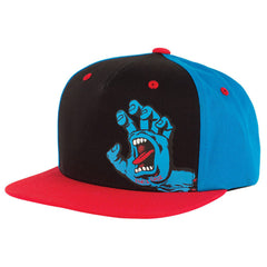 Santa Cruz Screaming Hand Flexfit Snapback Toddler's Hat - OS - Black/Blue/Red
