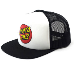 Santa Cruz Classic Dot Trucker Mesh Toddler's Hat - OS - White/Black