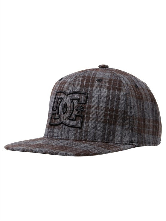 DC Pinride Men's Hat - Large/Extra Large - Black Plaid