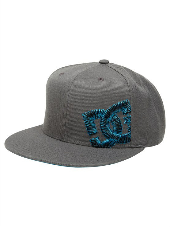 DC Sidebent Snapback Men's Hat - Pewter