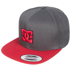 DC Snappy Snapback Men's Hat - Black/Black/Red XKKR
