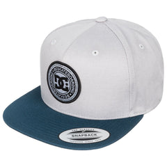 DC Stapler Snapback Men's Hat - Grey/Grey/Blue XSSB