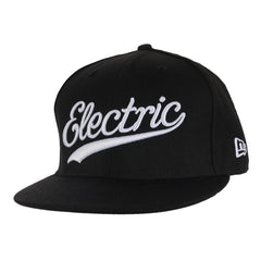 Electric Visiual Script Men's Snapback Hat - Black