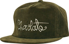 Chocolate Script Cord Men's Hat - Dark Green