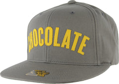 Chocolate League Starter Snapback Men's Hat - Grey/Yellow