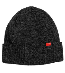 Chocolate Chunk Label Fold Men's Beanie - Charcoal Heather