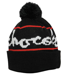 Chocolate Full Chunk Pom Men's Beanie - Black