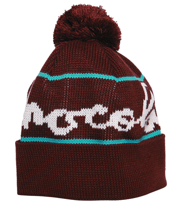 Chocolate Full Chunk Pom Men's Beanie - Maroon