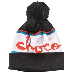 Chocolate Pom Folded Men's Beanie - Black
