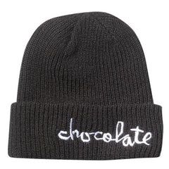 Chocolate Big Chunk Folded Men's Beanie - Black