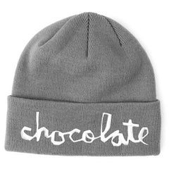 Chocolate Big Chunk Folded Men's Beanie - Grey