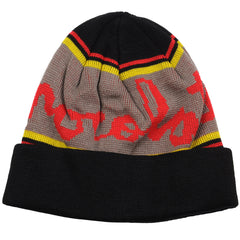 Chocolate Chunk Stripe Folded Men's Beanie - Black