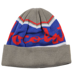 Chocolate Chunk Stripe Folded Men's Beanie - Charcoal