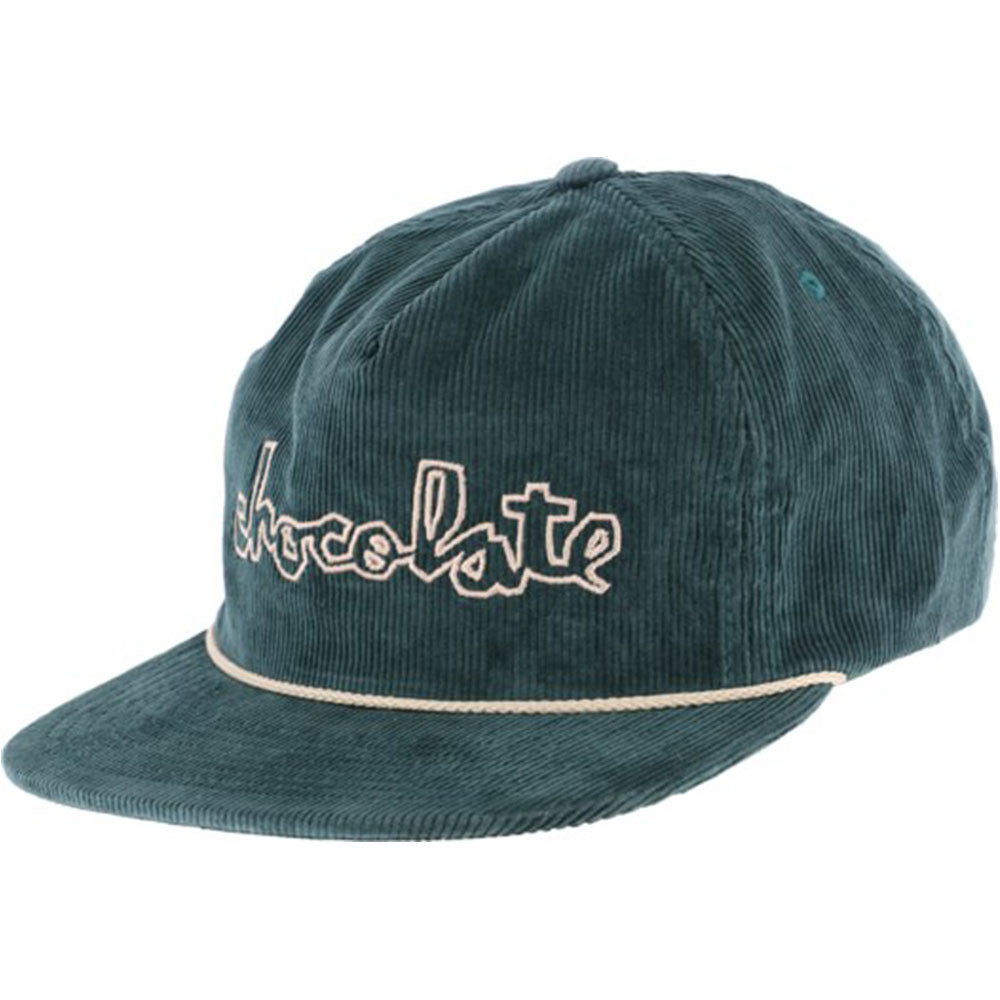 Chocolate Chunk Cord Snapback Men's Hat - Teal