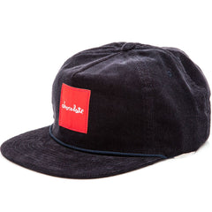 Chocolate Red Square Cord Men's Hat - Navy