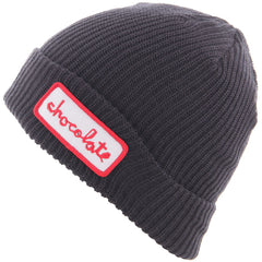 Chocolate Chunk Patch Fold Men's Beanie - Blue