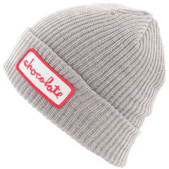 Chocolate Chunk Patch Fold Men's Beanie - Grey Heather