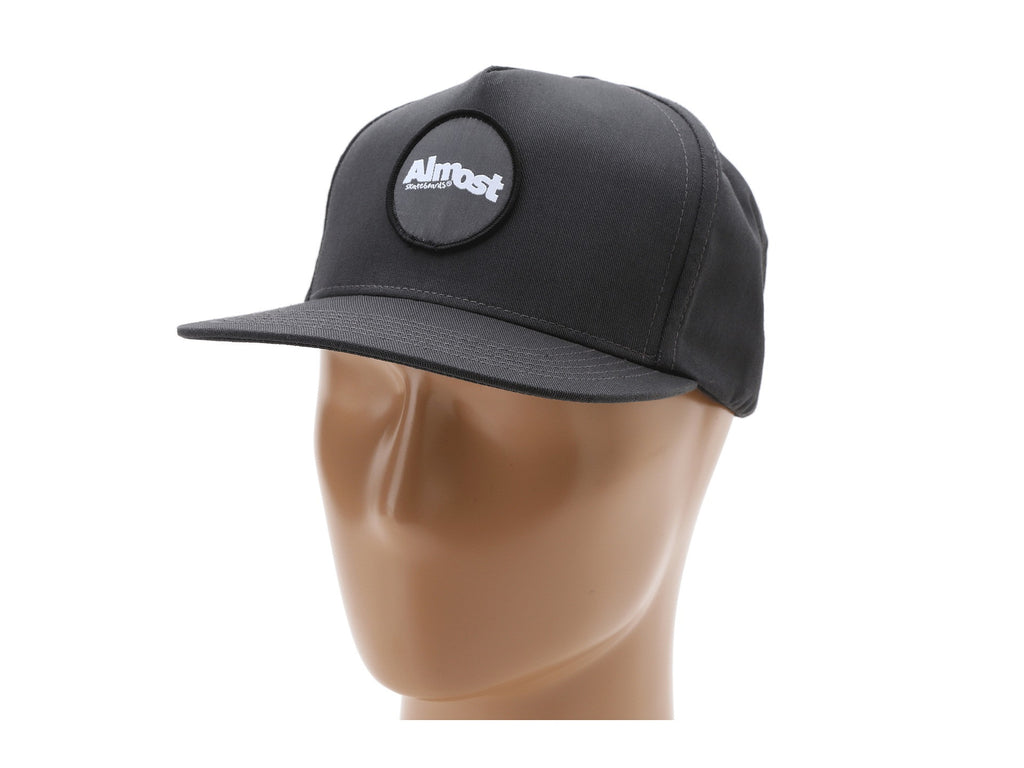 Almost A Patch Snapback Men's Hat - Charcoal