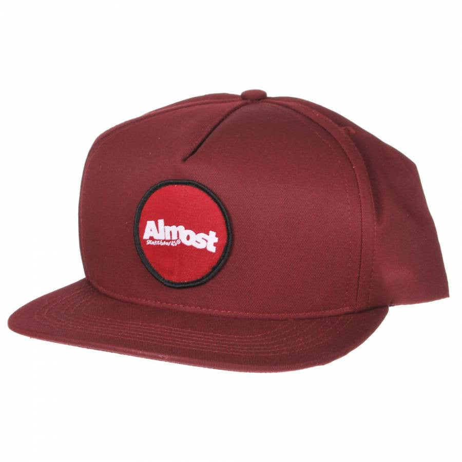 Almost A Patch Snapback Men's Hat - Maroon