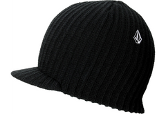 Volcom Full Stone Youth Visor Beanie - Black