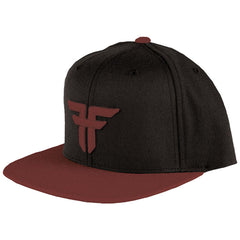 Fallen Trademark Starter Snapback Men's Hat - Black/Oxblood