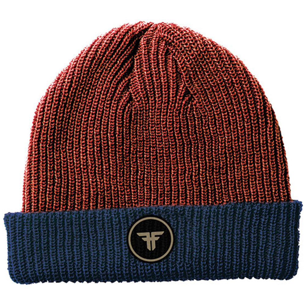 Fallen Double Up Men's Beanie - Heather Oxblood/Midnight Blue