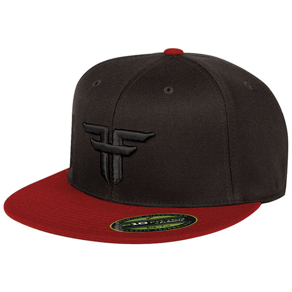 Fallen Trademark 210 Flex Fit Men's Hat - Black/Red/Black