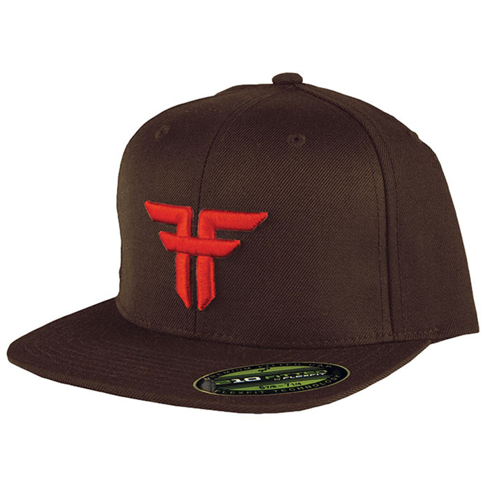 Fallen Trademark 210 Flex Fit Men's Hat - Brown/Blood Red