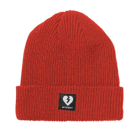 Mystery Heart Patch Beanie - Red