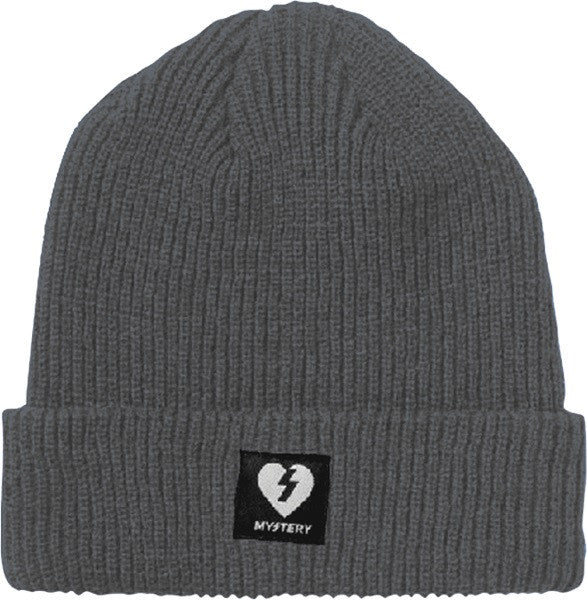 Mystery Heart Patch Beanie - Grey