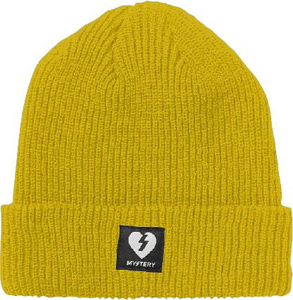 Mystery Heart Patch Beanie - Yellow