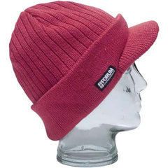Forum Strip Visor Beanie - Blood Red