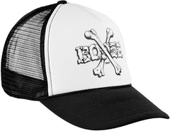 Bones Cross Bones Men's Trucker Hat - Black/White