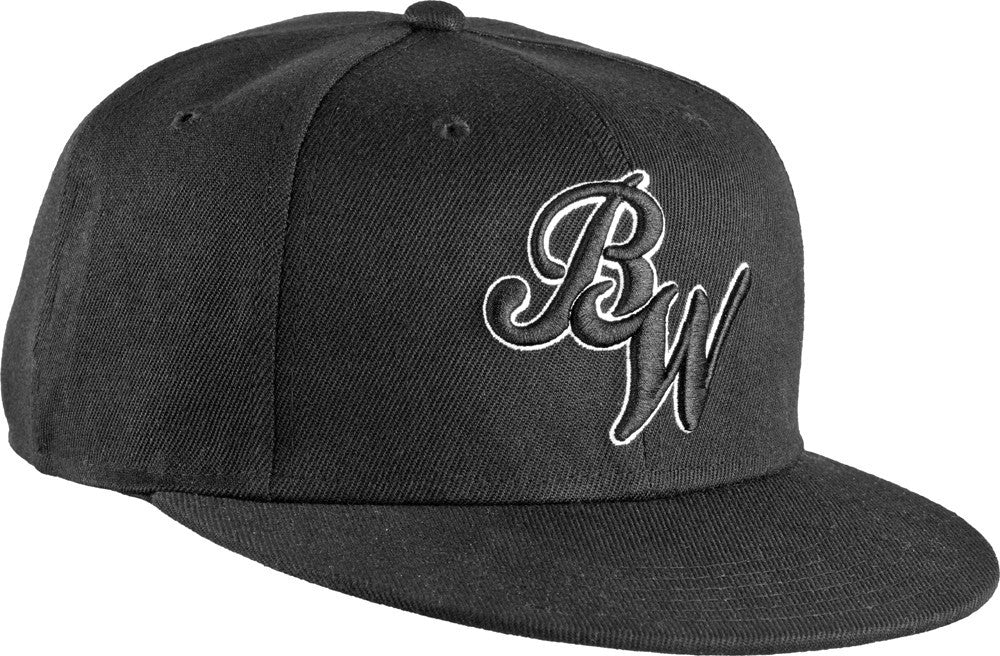 Bones Script Men's Snapback Hat - Black