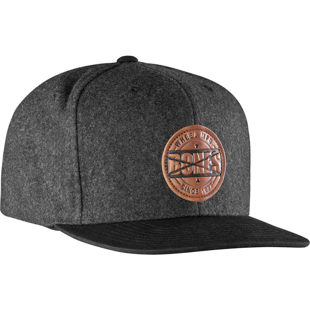 Bones Wool Stamp Snapback Men's Hat - Grey
