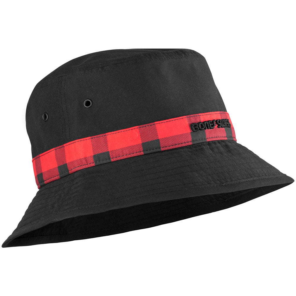Bones Bearing Swiss Plaid Bucket Men's Hat - Black/Red