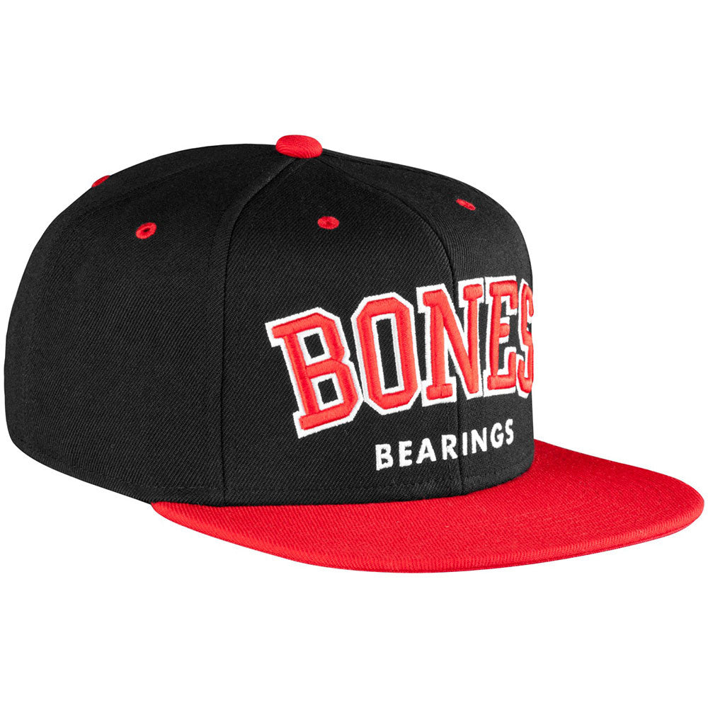 Bones Bearing Emphasis Snapback Men's Hat - Black/Red