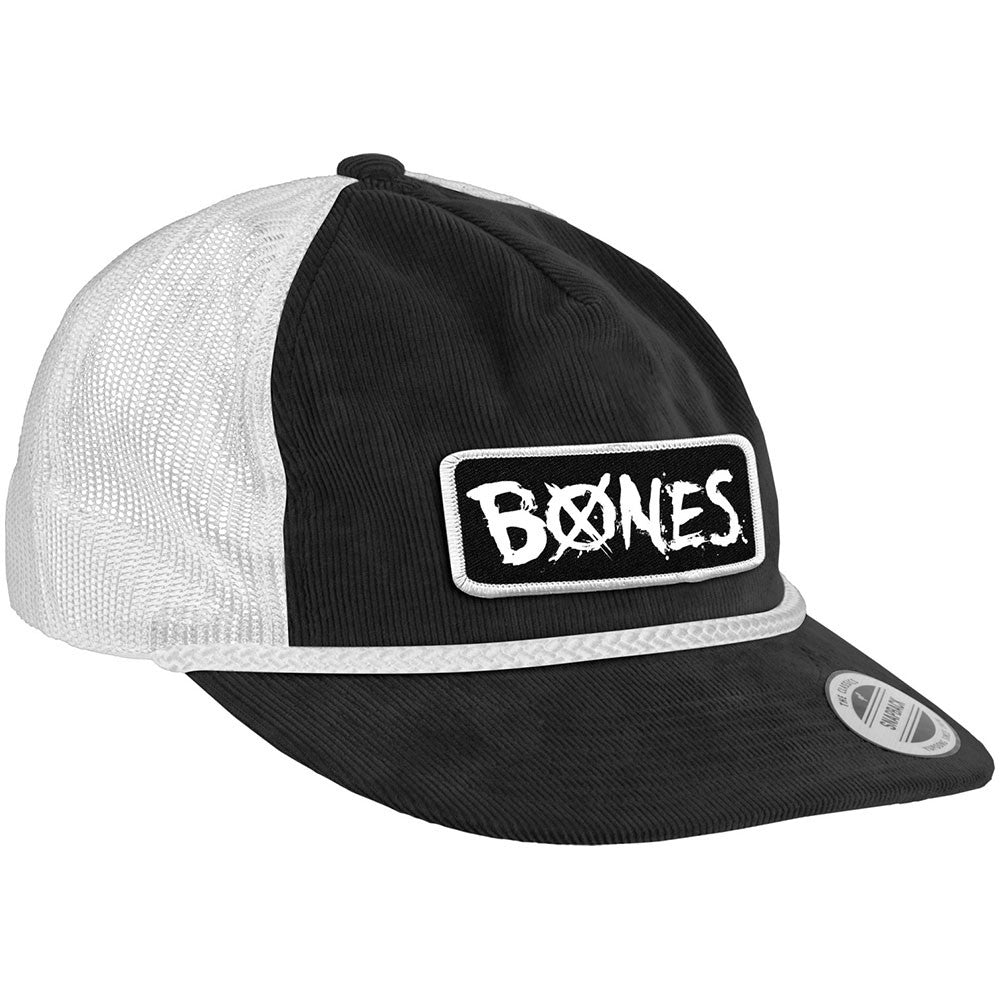 Bones Bearing Cap Old Roy Snapback Men's Hat  - Black/White