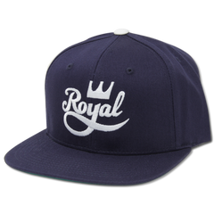 Royal Crown Script Men's Hat - Navy