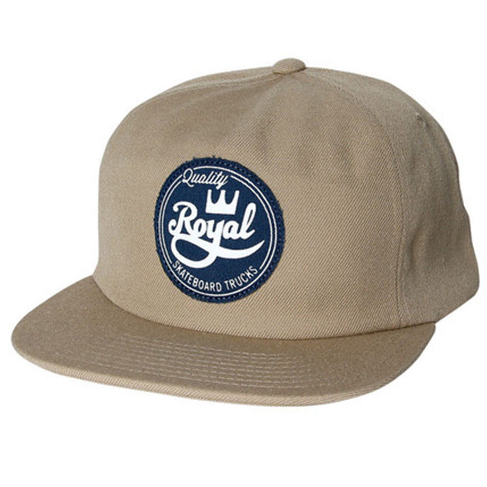 Royal Seal Unstructured Snapback Men's Hat - Khaki