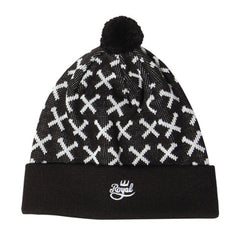 Royal Boltz Pom Men's Beanie - Black