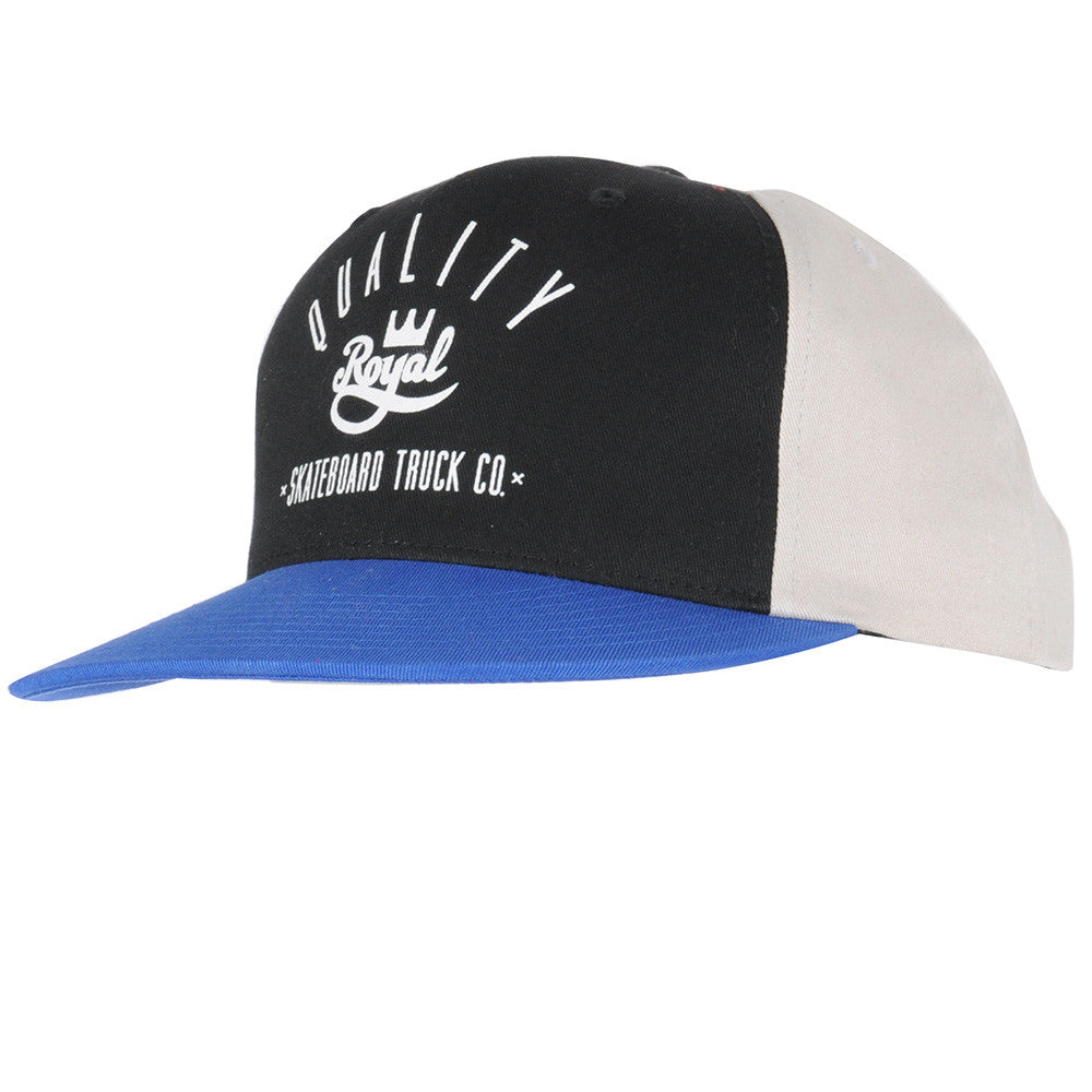 Royal Worker Snapback Men's Hat - Black/Blue/Khaki