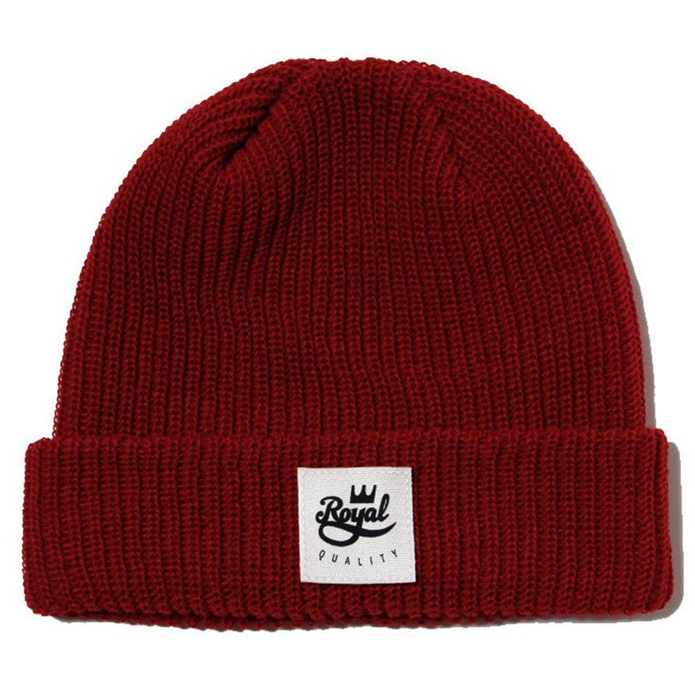 Royal Quality Fold Men's Beanie - Red