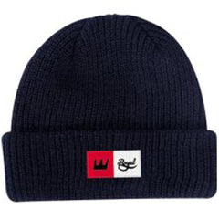 Royal Crown Patch Fold Men's Beanie - Navy