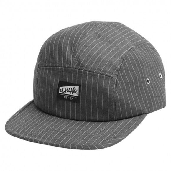 Cliche Chambray Strapback Men's Hat - Grey